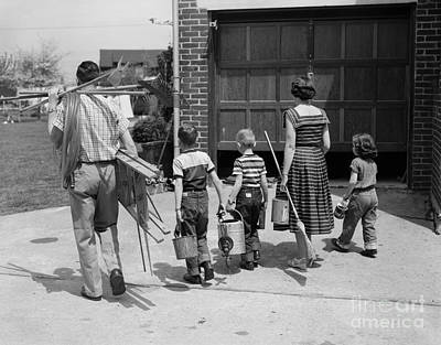 Photograph - Family With Home Improvement Tools by H Armstrong Roberts ClassicStock