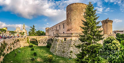 Basilicata Photograph - Famous Aragonese Castle, Castello Aragonese, Venosa, Basilicata, Italy by JR Photography