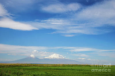 Photograph - Famous Ararat Mountain Under Beautiful Clouds As Seen From Armenia by Gurgen Bakhshetsyan