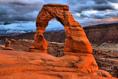 Photograph - Famous Arch Sunset by Adam Jewell