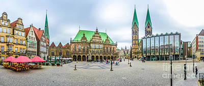 Europe Photograph - Famous Bremen Market Square In The Hanseatic City Bremen, Germany by JR Photography