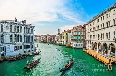 Photograph - Famous Canal Grande From Famous Rialto Bridge In Venice, Italy by JR Photography
