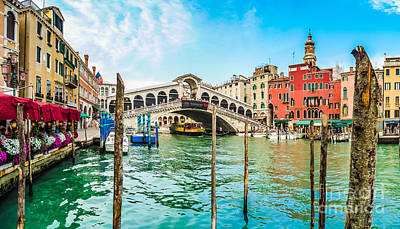Photograph - Famous Canal Grande With Historic Rialto Bridge In Venice, Italy by JR Photography