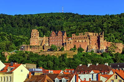 Photograph - Famous Castle Ruins, Heidelberg, Germany by Elenarts - Elena Duvernay photo