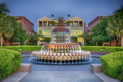 Photograph - Famous Charleston Pineapple Fountain by Anthony Doudt