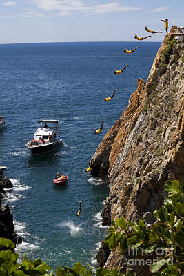 Aeriel View Photograph - Famous Cliff Diver Of Acapulco Mexico by Anthony Totah
