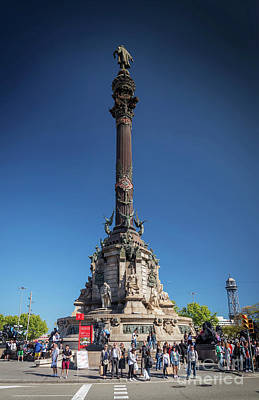 Photograph - Famous Columbus Monument Landmark In Central Barcelona Spain by Jacek Malipan
