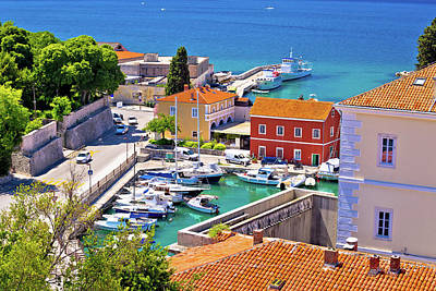Photograph - Famous Fosa Harbor In Zadar Aerial View by Brch Photography