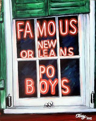 Painting - Famous French Quarter Window Sign by Terry J Marks Sr