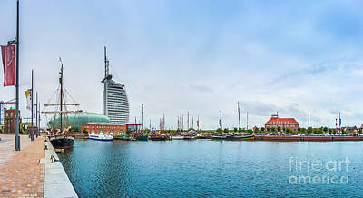 Bremen Photograph - Famous Havenwelten With Hotel In The Hanseatic City Bremerhaven, Bremen, Germany by JR Photography