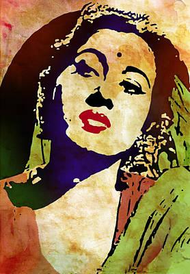 Famous Hindi Movie Actress Madhubala Art Print
