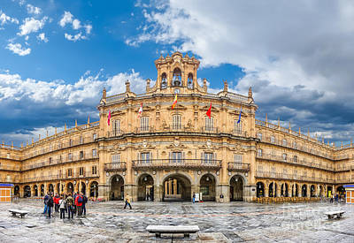Photograph - Famous Historic Plaza Mayor In Salamanca, Castilla Y Leon, Spain by JR Photography