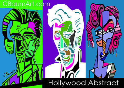 Famous People Abstract Original by C Baum