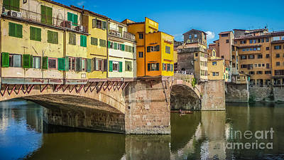 Photograph - Famous Ponte Vecchio In Florence, Ital by JR Photography