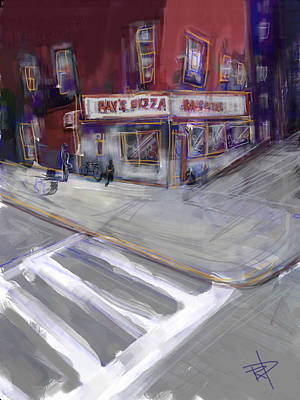 Nyc Digital Art - Famous Ray's by Russell Pierce
