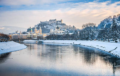 Photograph - Famous Skyline Of Salzburg In Winter by JR Photography