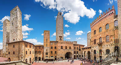 Photograph - Famous Town Square Of San Gimignano by JR Photography