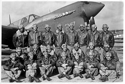 American Airmen Painting - Famous Tuskegee Airmen by Pd