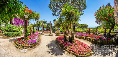 Panorama Photograph - Famous Villa Rufolo Gardens In Ravello At Amalfi Coast, Italy by JR Photography