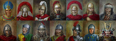 Painting - Famous Warriors In History by Arturas Slapsys
