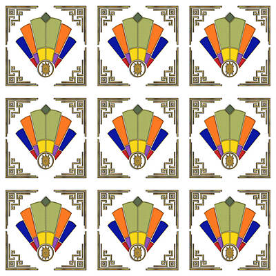 Digital Art - Fan 7 Frame 2 Tile by Chuck Staley