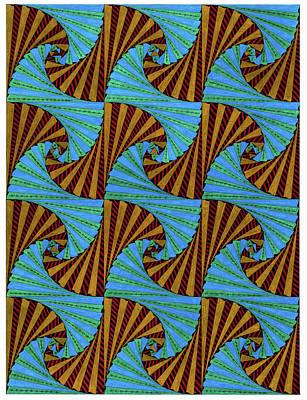 Geometric Drawing - Fan Frenzy by Bev Donohoe