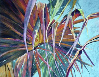 Painting - Fan Palm Canopy by Rae Andrews