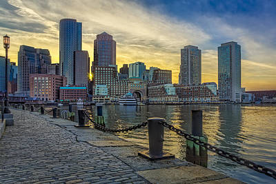 Photograph - Fan Pier Boston Harbor by Susan Candelario