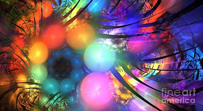 Chakra Rainbow Digital Art - Fan Spheres by Kim Sy Ok