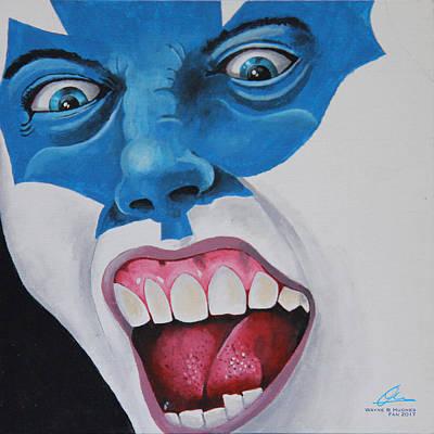 Hockey Fans Painting - FAN by Wayne Hughes