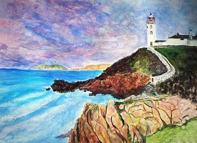 Painting - Fanad Head Lighthouse by Anne Sands