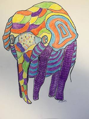 Painting - Fanciful Elephant by Anne Sands
