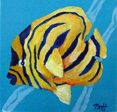 Flounder Painting - Fanciful Flounder 1 by Patricia Hooks