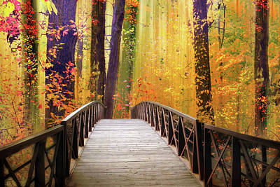 Photograph - Fanciful Footbridge by Jessica Jenney