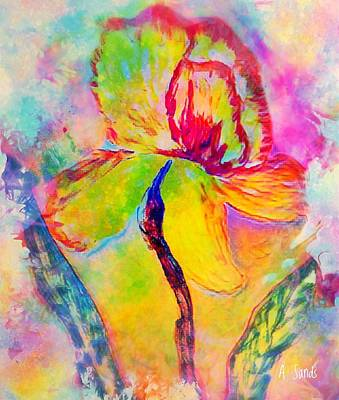 Painting - Fanciful Iris Flower by Anne Sands