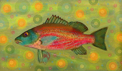 Digital Art - Fanciful Pink Snapper  by Shelli Fitzpatrick