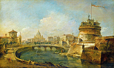 Painting - Fanciful View Of The Castel Sant'angelo by Francesco Guardi