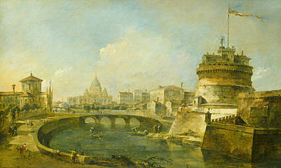 Painting - Fanciful View Of The Castel Sant'angelo, Rome by Treasury Classics Art