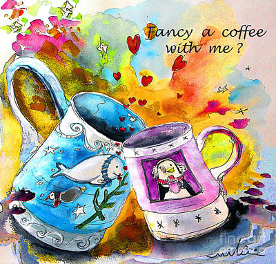 Painting - Fancy A Coffee by Miki De Goodaboom