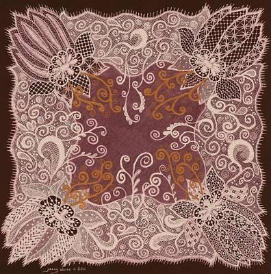 Fancy Antique Lace Hankie Print by Jenny Elaine