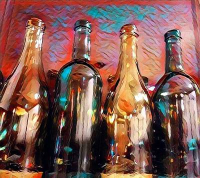 Digital Art - Fancy Bottles by Vijay Sharon Govender