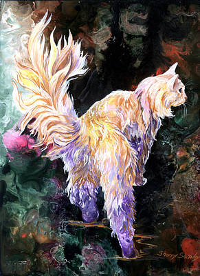 Art Print featuring the painting Fancy Britches by Sherry Shipley