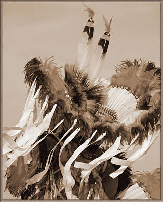 Print featuring the photograph Fancy Dancer In Sepia by Heidi Hermes