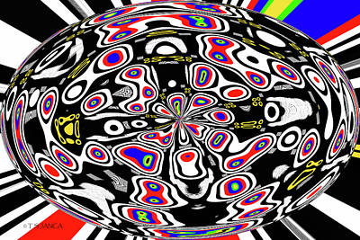 Digital Art - Fancy Egg Abstract by Tom Janca