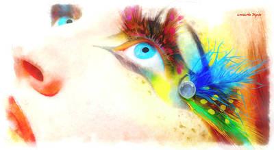 Lip Digital Art - Fancy Eye - Da by Leonardo Digenio