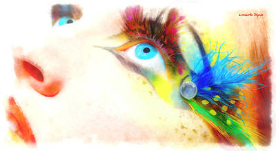 Fancy Painting - Fancy Eye - Pa by Leonardo Digenio