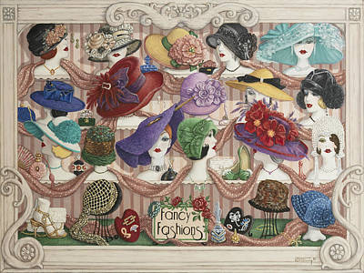 Painting - Fancy Fashions by Janet Kruskamp