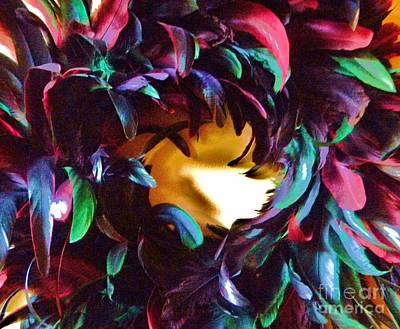 Fancy Feathers Art Print by Leslie Revels Andrews
