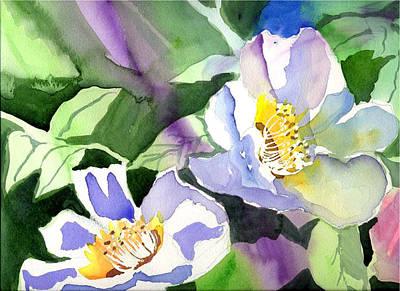 Fancy Flowers Art Print by Janet Doggett