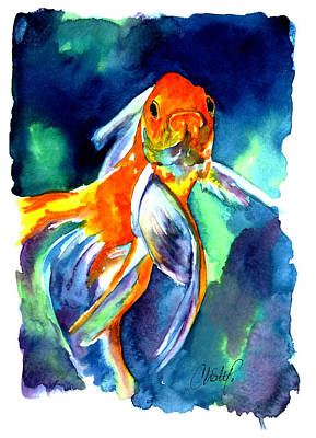 Painting - Fancy Goldfish by Christy Freeman Stark